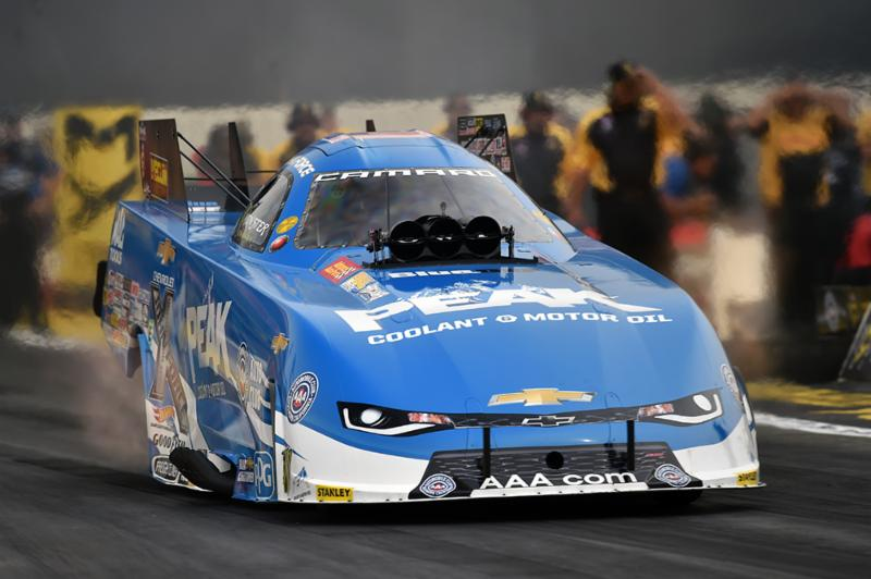 PEAK's John Force wins Top Fuel, Funny Car titles as car