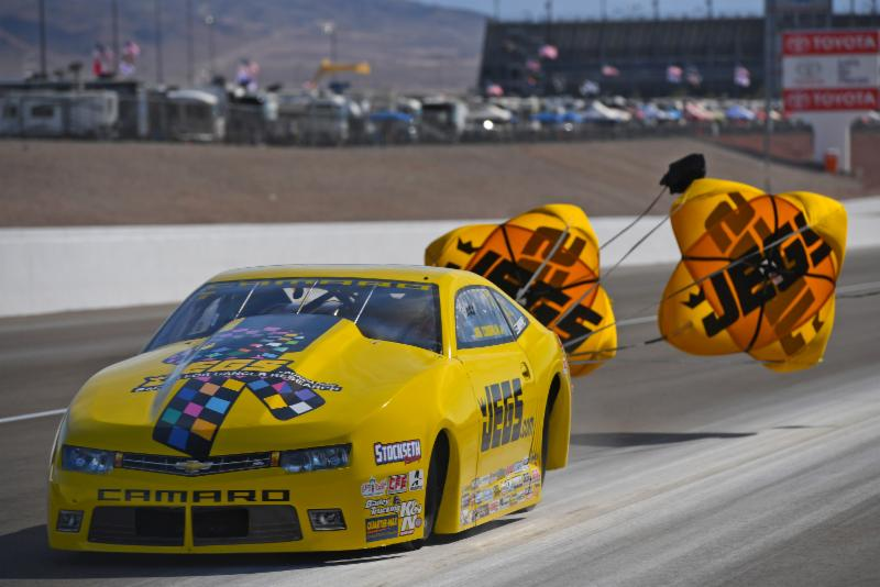 ... Jeg Coughlin Jr.'s qualifying mastery of this year's Countdown to the Championship races continued Saturday at The Strip at Las Vegas Motor Speedway ...